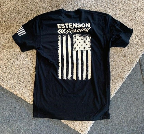 Estenson Racing Flag T-Shirt - Black