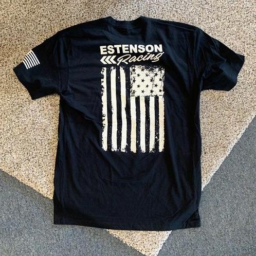 Estenson Racing Flag T-Shirt - Black