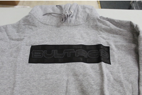 Bultaco Hoodie (Gray w/black letters)