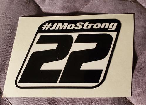 """#JMOSTRONG sticker - 3.50"""" X 2.50"""""""