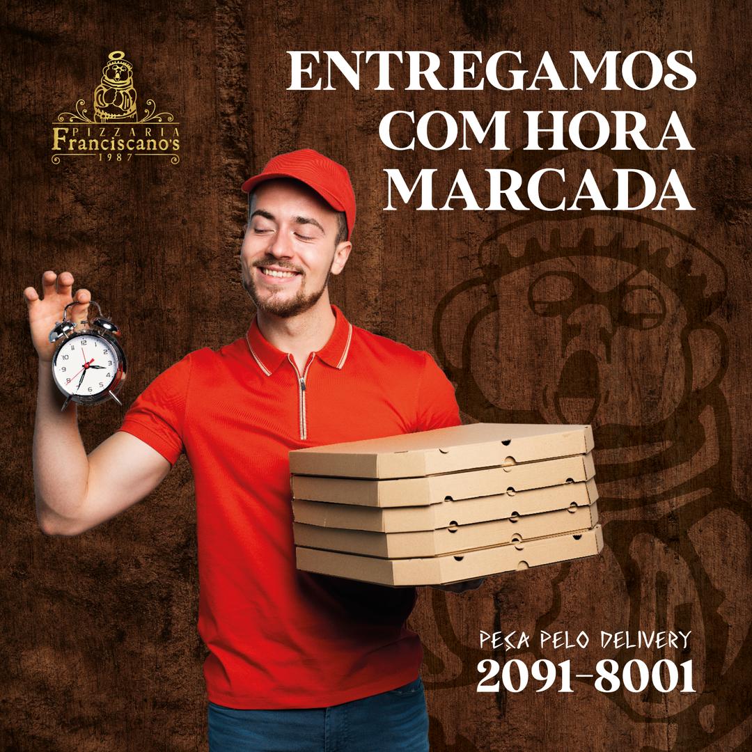 PIZZA COM HORA MARCADA