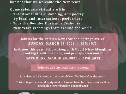 Join Us as we Celebrate Navrouz, the Persian New Year!
