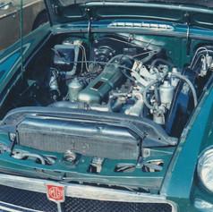 JJJ888 MGB GT V8 joins BLL155H MGC GT - August 1973