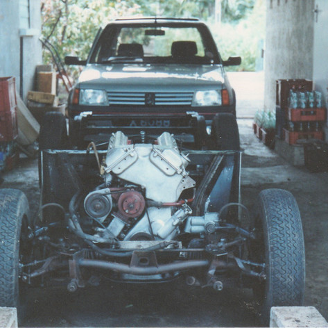 Body off - chassis chocked