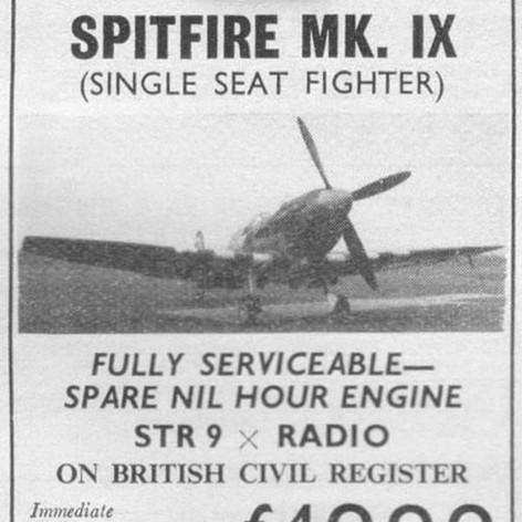 RAF Spitfire Merlin - chocks Away, How Cheap!