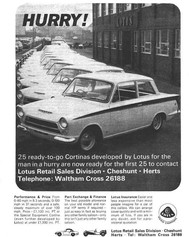 Initially a limited production run, Lotus Cortina went on to earn legend status