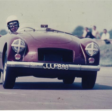 Race Day - Rob Davis at Silverstone MGCC late 1960's JJJ888