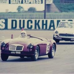 Race Day - Rob at #Silverstone #MGCC late 1960's JJJ888