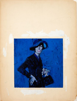 Renato Fratini - Lady In Blue c1960s