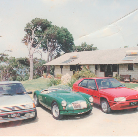 "Family Fleet at ""Cabers"", #RoyalWestmoreland, St James, #Barbados mid 1990s MG88"