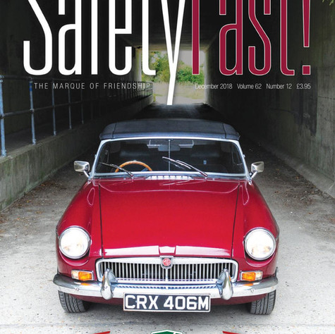 YD1/2497 MGA Twin Cam Featured in MG Car Club Safety Fast