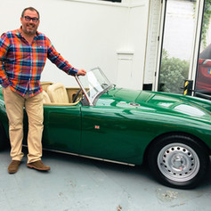 Friends Reunited - James and the MG reaquainted in the UK