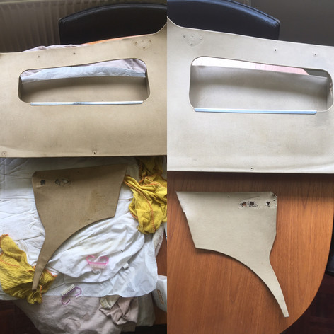 Clean up of existing door cards, before/after