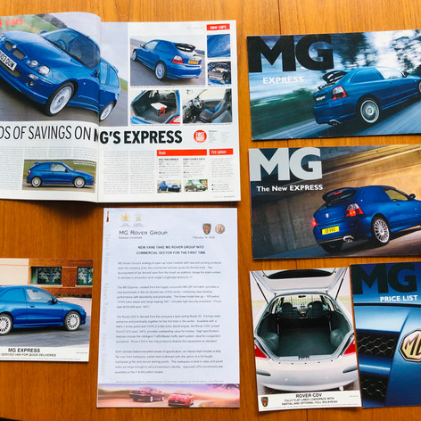 MG Express Press Release, Photos and Brochures