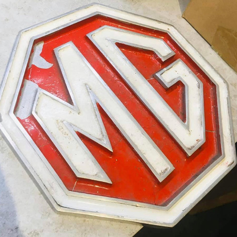 MG Dealership Sign - Cast Alloy, Maybury Garage, Hull