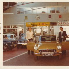 JJJ888 - moved from the MGA Twin Cam onto Rob's New MGB GT V8
