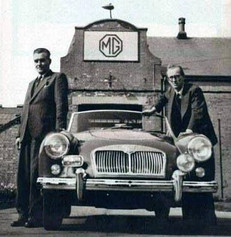 MGA/MGB designer Albert Sydney ('Syd') Enever (1906-1993) and MG General Manager 'Mr MG' John William Yates Thornley OBE (1909-1994)