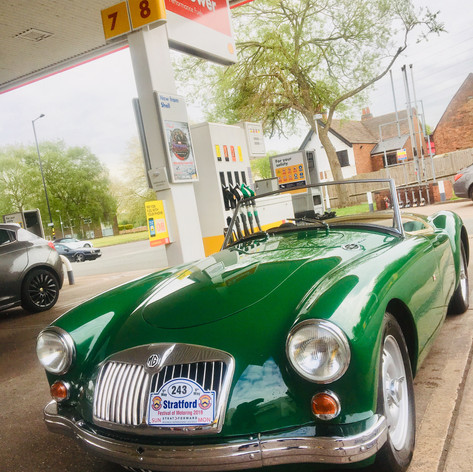 Fuel stop en route @Shell