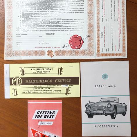 Reproduction MGCC Twin Cam Dealer Literature (and original dealer accesory brochure)