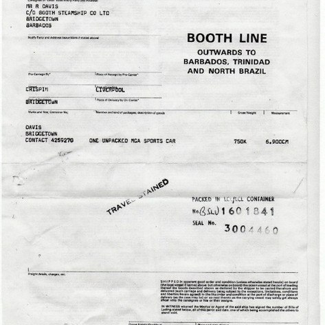 Booth Line destined for #Barbados, May 1987