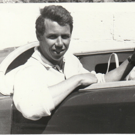 2nd Owner - Rob Davis behind the wheel in the 1960s