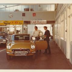 JJJ888 - moved onto Rob's new MGB GT V8, August 1973