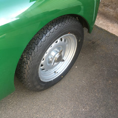Period look, original banded wheels reunited