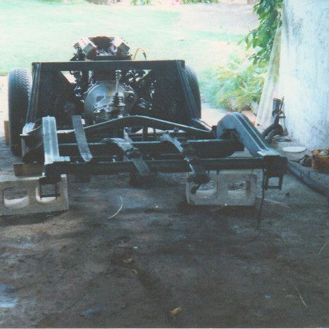 Body off - chassis stripped, axle off