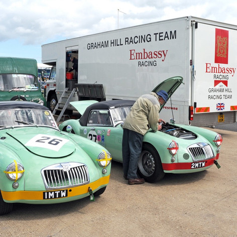 1 MTW & 2MTW - Prize pair of ex Dick Jacob MGA Twin Cam racers