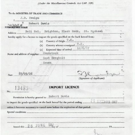 1987 #Barbados Customs Paperwork, June 1987