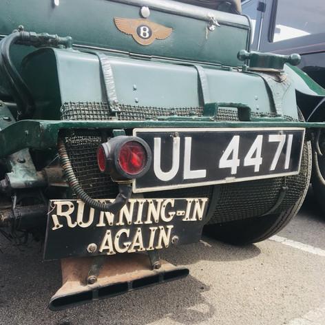 Old School Bentley with great running-in sign