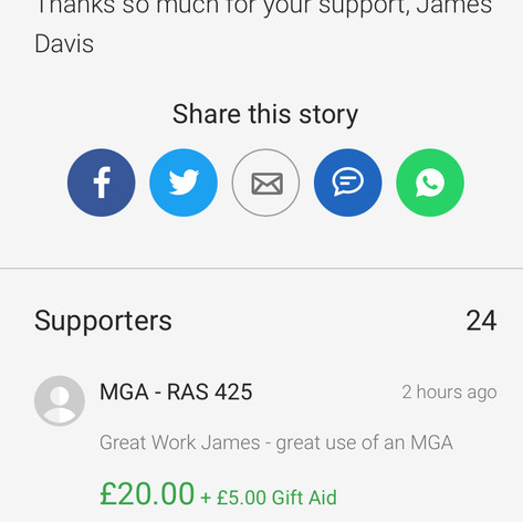 RAS425 - Project Supporter Donation