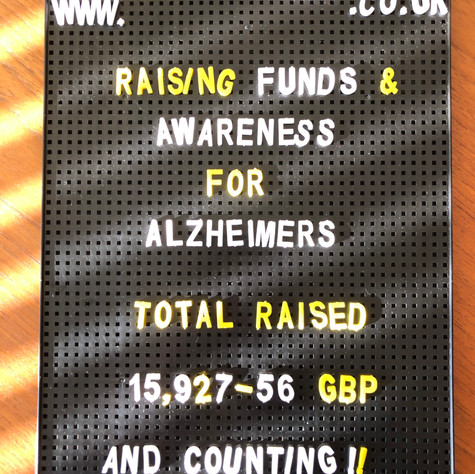 2020 Running Fundraiser Total for @MGAlzheimers Legacy Project