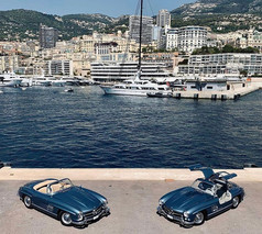 Mercedes 190SL and Gullwing in Monaco