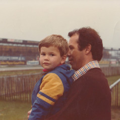 Rob and James - Spectating at Thruxton c1976