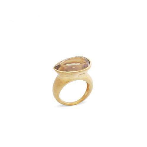 Smoked teardrop ring