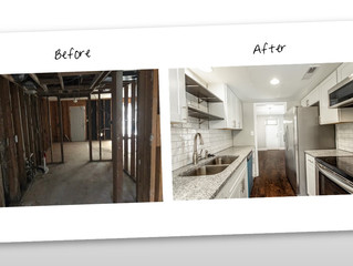 Before & After Pics of Stone Mountain Townhouse