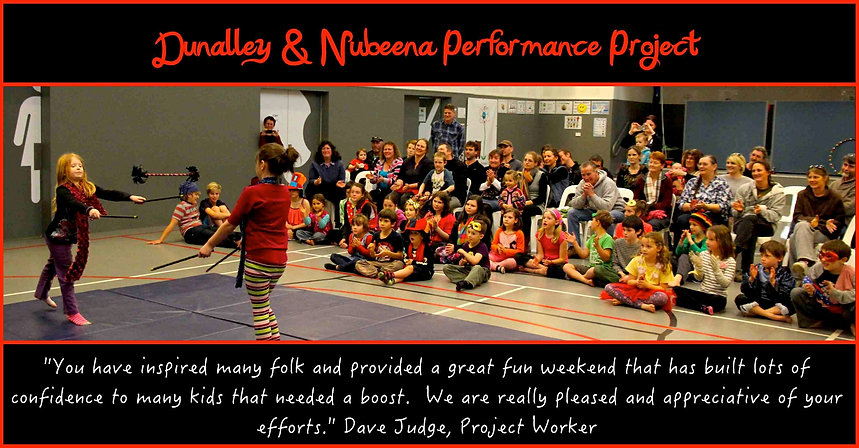 Circus Show with kids from Dunalley & Nubeena
