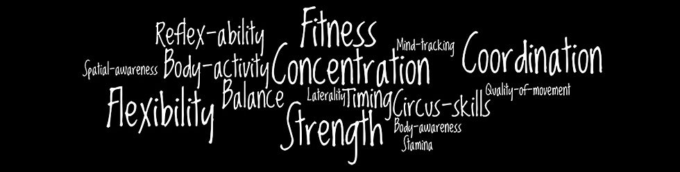 Fitness, Concentration, Strength, Coordination, Balance