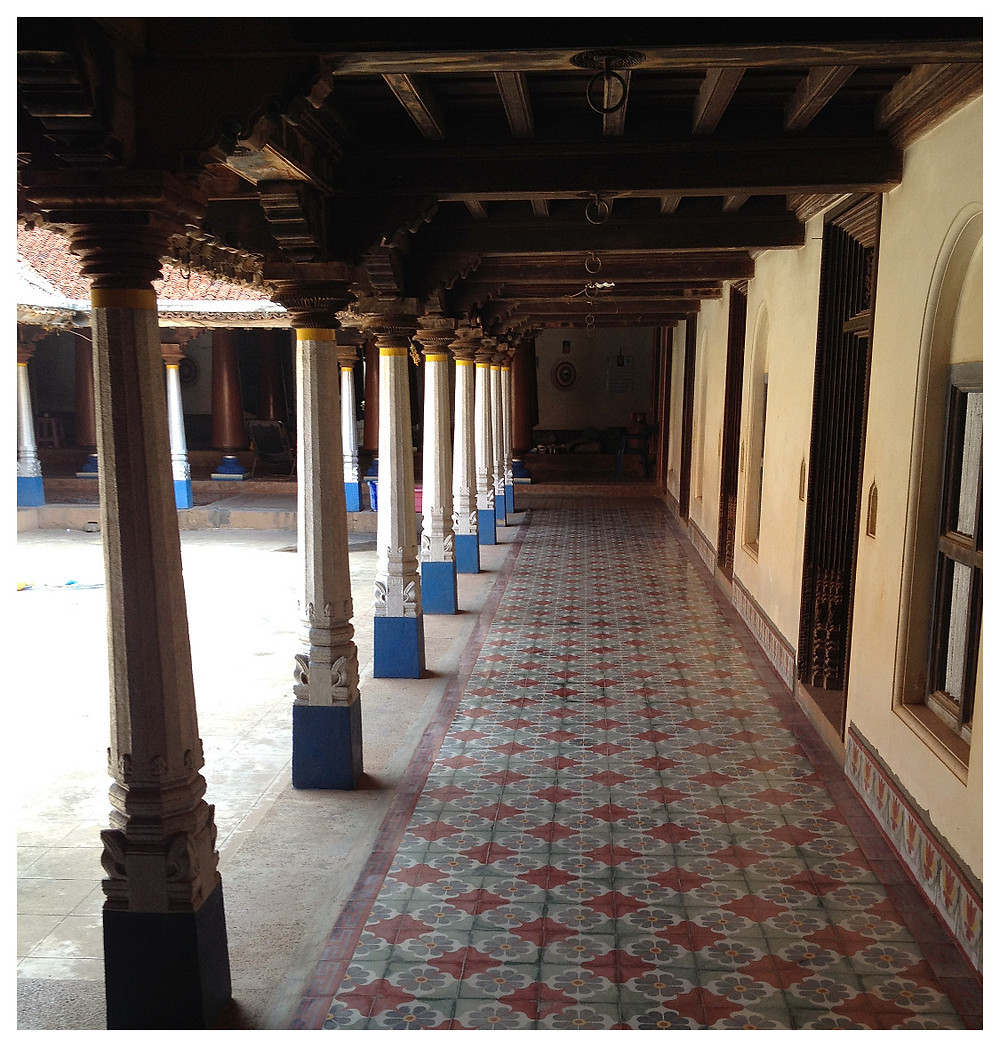 Corridor of an older Chettinad home from Belle Desi