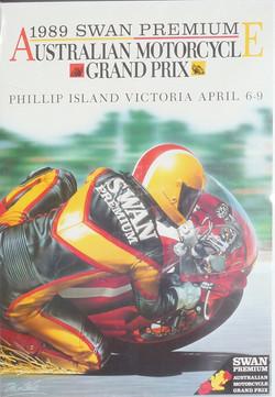 1989 Australian Bike GP Poster