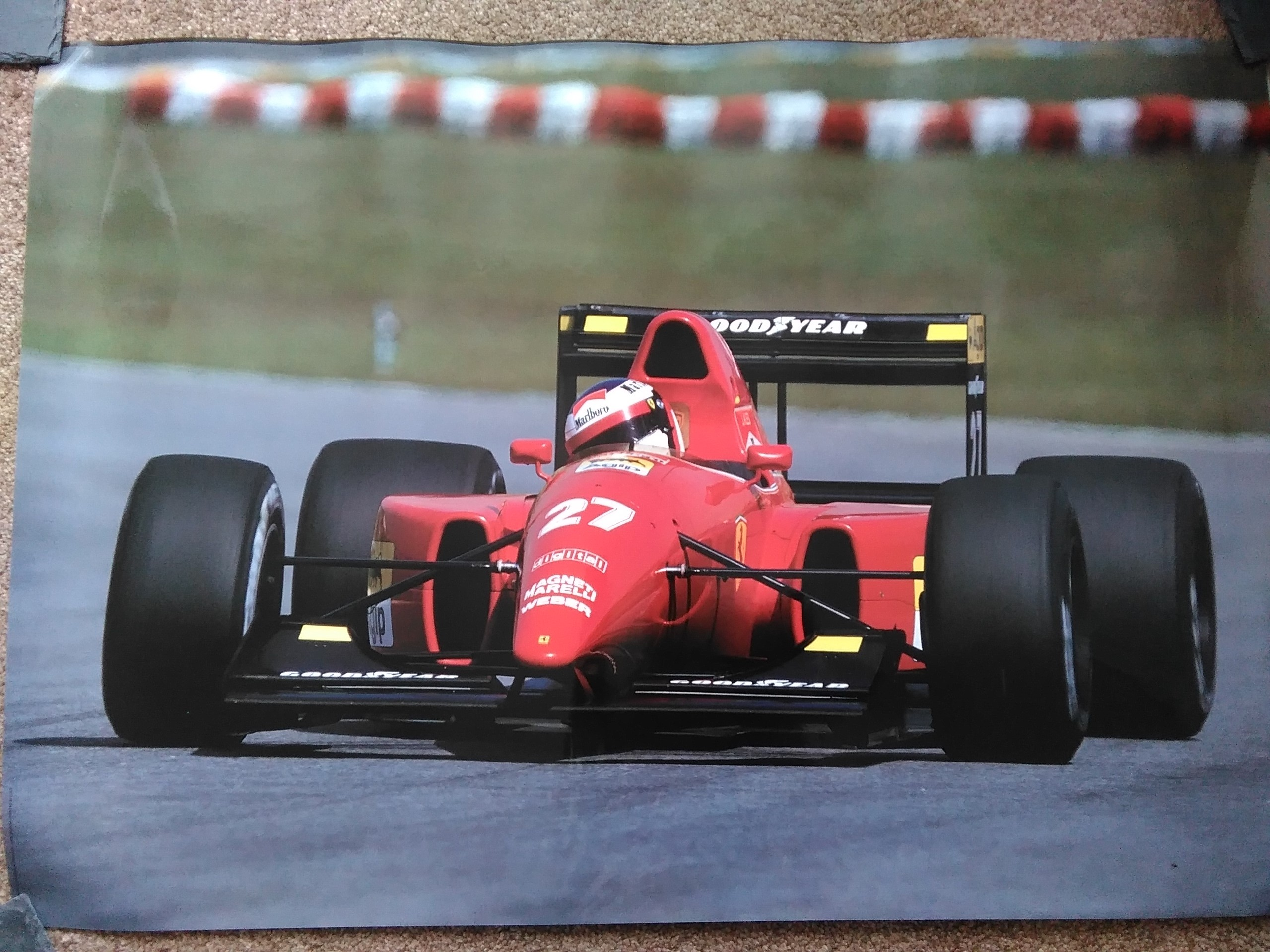 Jean Alesi Ferrari Poster