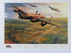 Bomber Force Multi Signed Print