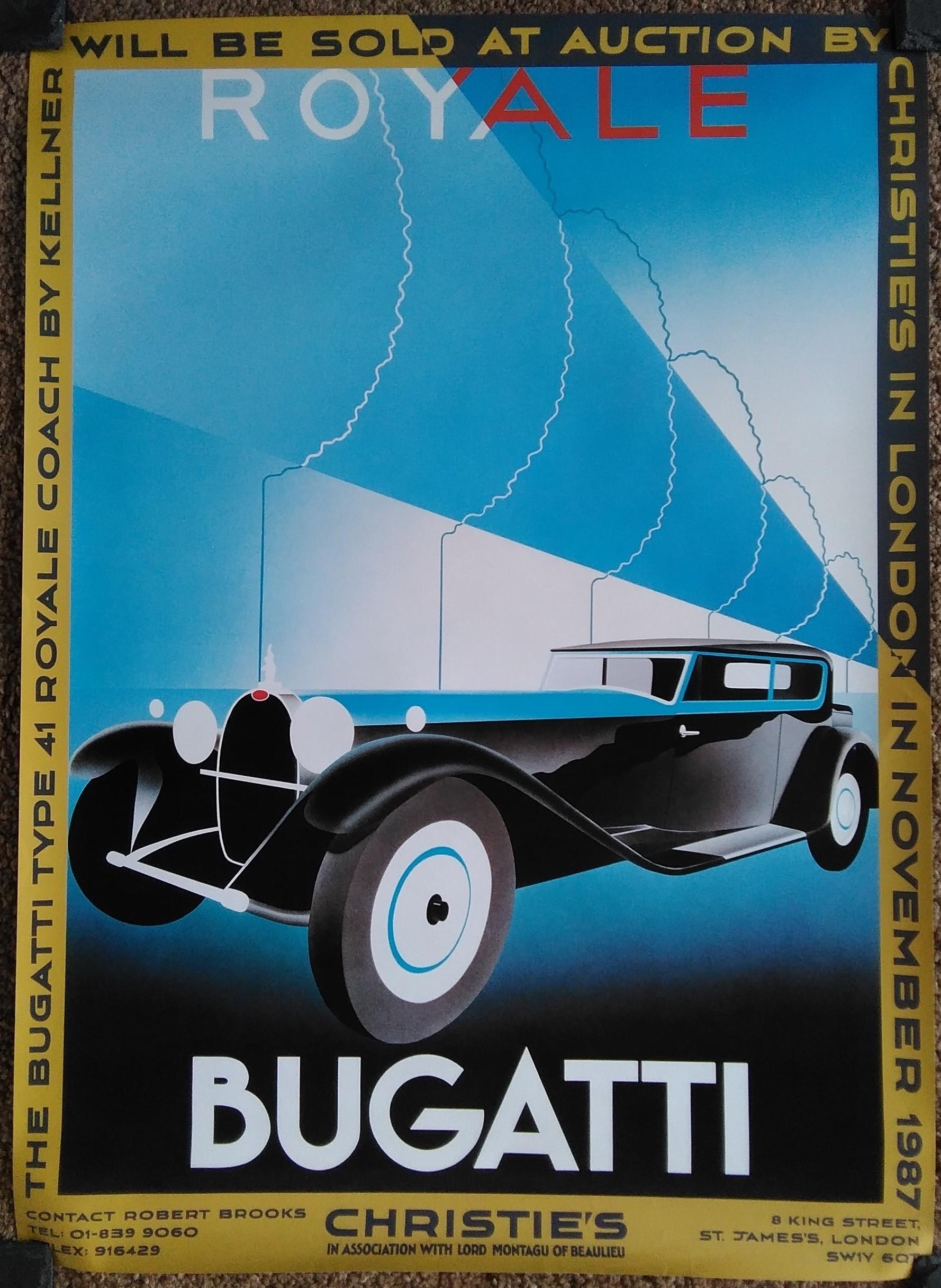 Christies Bugatti Poster 1987