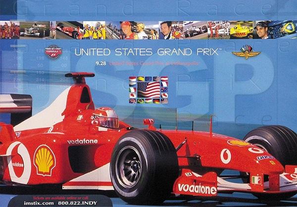 Original 2003 USA GP Poster