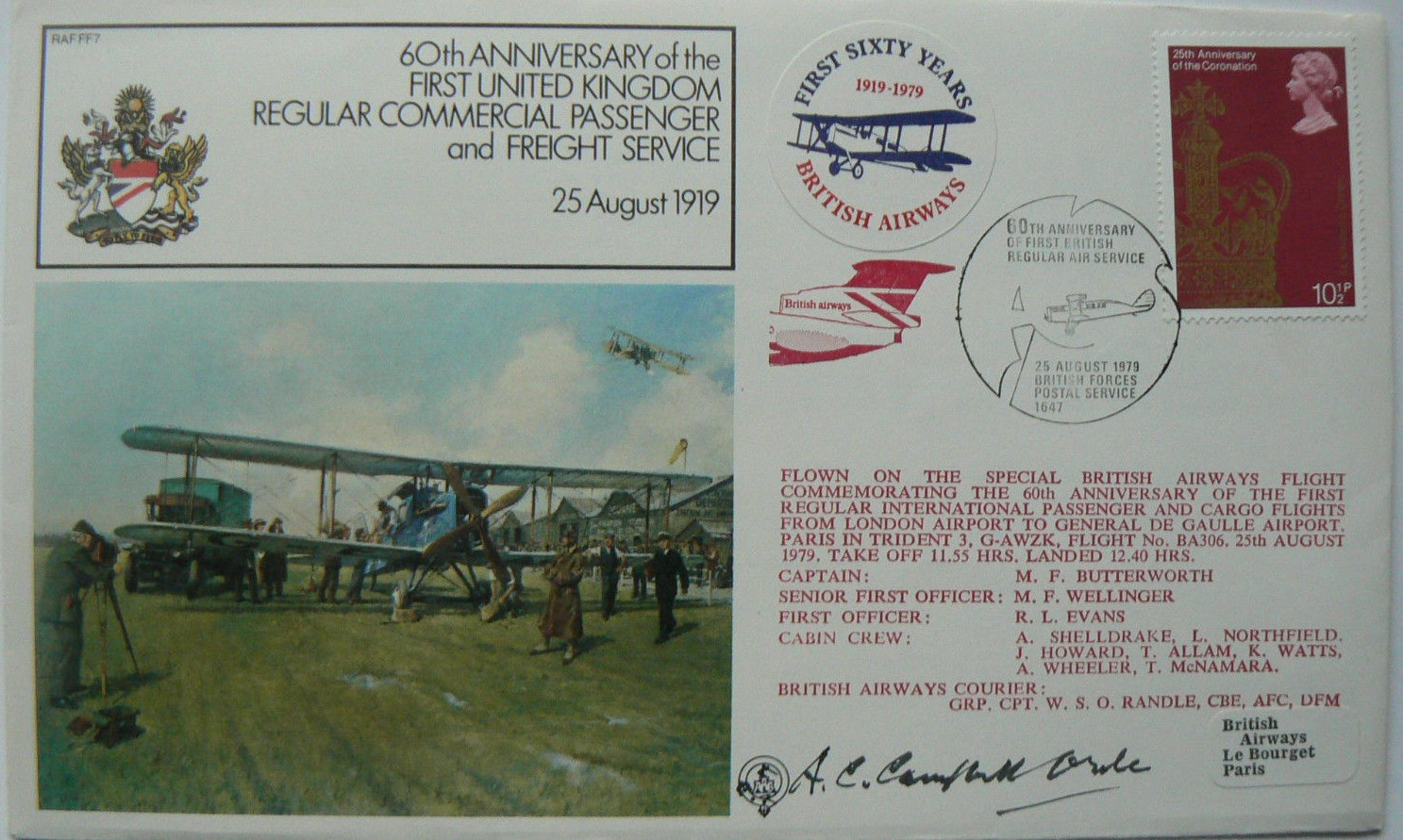 A C Campbell Orde Signed FDC