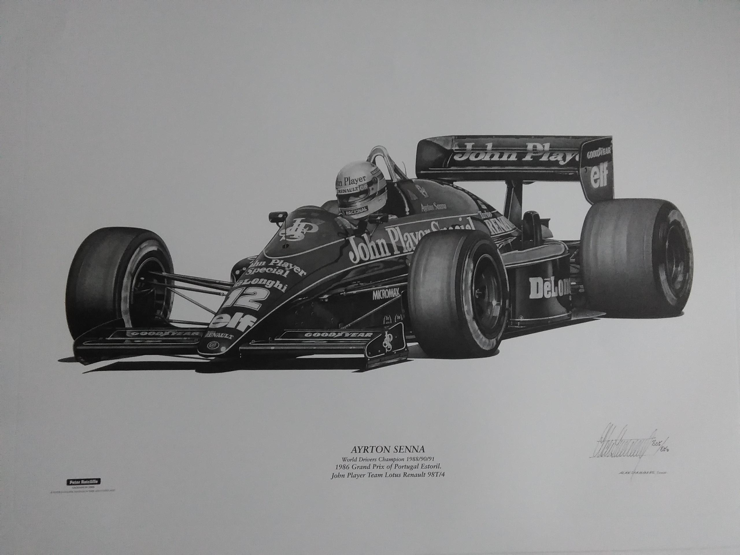 Ayrton Senna Lotus 98T 1986-Alan Stammers