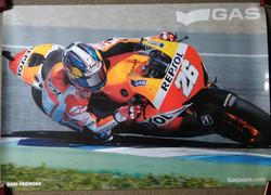 Dani Pedrosa Gas Poster