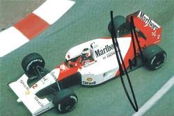 Gerhard Berger McLaren Signed