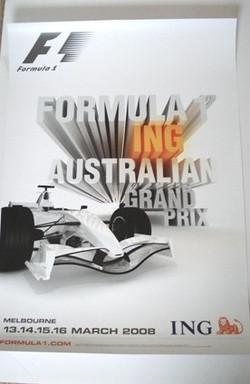 Original Australian GP Poster 2008